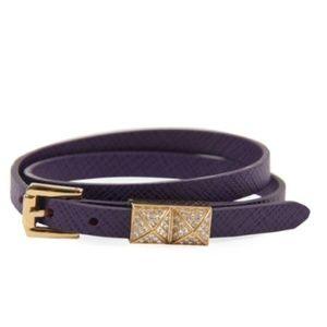 NEW Michael Kors purple gold double wrap bracelet